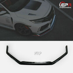 For 17+ Honda Civic Tyr Fk8 Vrs-style Frp Unpainted Front Lip 5dr Hatch Back