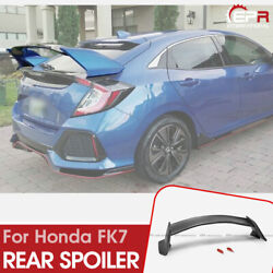 Tr Style Abs Rear Spoiler Wing For 17 Onwards Honda Civic Fk7 Hatchback
