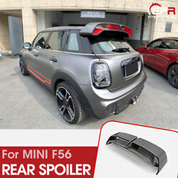 For F55 F56 Mini Cooper Carbon Glossy Gp3 Style Rear Spoiler Roof Wing Body Kits