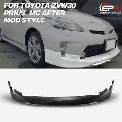 For Toyota Zvw30 Prius Mc After Mod Style Pp Front Spoiler Bumper Lip Body Kit