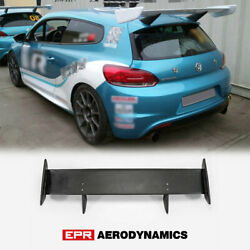 For Vw Scirocco R Mk3 Cup R Style Frp Unpainted Roof Spoiler Rear Wing Kit