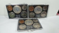1966,67,69, Year Set P Kennedy 50 Cents - Quarter - Roosevelt Dime ,nickel Penny