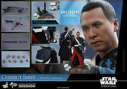 Hot Toys Mms403 Chirrut Imwe Deluxe Version Star Wars Rogue One / Sealed / Mint