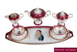 Antique Original Rare French Coffee Service Limoges For Two Persons 40 Cm
