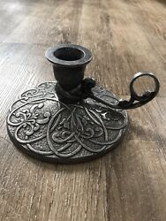 Carson Pewter Chamberstick - Forevermore - Celtic Heart - Mcsparran Design 1996