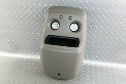 99-06 Gm Suv Gray Overhead Roof Console Dual Map Lights Storage Cubby