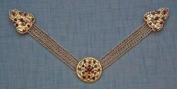Antique Hungarian Polish Jeweled Silver Clasp For Sword Collector Poland Hungary