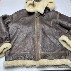 Vintage Us Army Air Force Flak Jacket Calafate Aviation B-3 Type Large With Hood