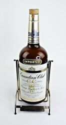 1967 Canadian Club Whiskey Bottle And Tipping Stand Mancave Barware Gallon Size