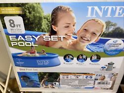 🔥intex 8and039x24 Easy Set Round Inflatable Above Ground Pool With Pump And Filter🔥