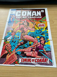 Marvel Super Heroes Checklist Conan The Barbarian 9 Complete Puzzle Back Card Nm