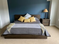 Restoration Hardware King Size Bed And Nightstand