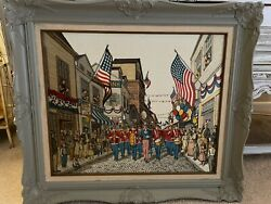 H. Hargrove Andldquoour Glorious 4thandrdquo 1985 Limited Edition Serigraph. God Bless America