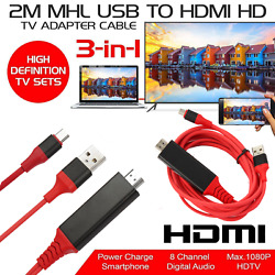 4k Usbc Type C To Hdmi Cable Phone To Tv Hdtv Av Adapter For Android Samsung Lot