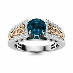 Certified 0.91ct London Blue Topaz And Si Diamond Engagement Ring 14k White Gold