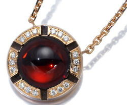 Auth Chaumet Necklace Garnet Diamond Class One Cruise 18k 750 Rose Gold