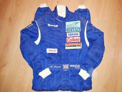 Race Used Suit 1994 Mark Blundell F1 Formule 1 Tyrrell Combinaison Signed
