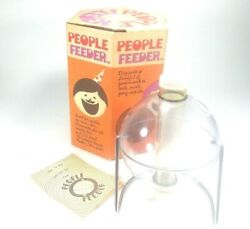 People Feeder Nut Candy And Snack Dispenser Vintage With Box
