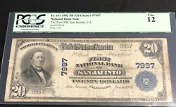 1902-20pb-the Fnb Of San Jacinto-ca-pcgs12-a Scarce Noteand Itwas Under-graded.