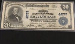 1902-20pb-the Fnb Of Effingham Il-in Vf+ Condition. A Rare Note Fr Il-2 Known.