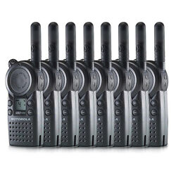 Motorola Cls1410 1-w 4 Channel W/ Lcd Display Professional Two-way Radio 8-pack
