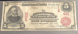 1902-5-red Seal-the Gettysburg Nb-pa-f+ Condition-super Rare/corners Repaired.