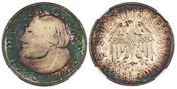 Germany, 3rd Reich. 1933-a Ar 5 Reichsmark. Ngc Pr65 Cameo. Martin Luther.