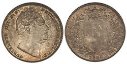 Great Britain. William Iv 1834 Ar Sixpence. Ngc Ms66. Scbc-3836.