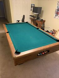 Pool Table Full, 8 Feet, Real Slate, Cover, Balls, Cues, Rack Included