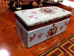 Beautiful Antique 19-18th C Chinese Export Porcelain Famille Rose Jewlery Box