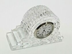 Waterford Crystal Large Cottage Mantle Clock Made In Ireland Signed Free Sandh