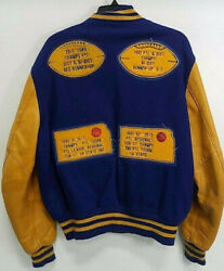 Pine Valley Panthers Vintage Delong Letterman's Jacket Xl Leather And Wool 80s 90s