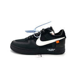 Nike Air Force 1 Low Off-white Black White Ao4606-001 Menand039s Size 6.5-13