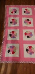 Handmade Baby Quilt Or Lap Quilt Hello Kitty And Strawberry Shortcake Pink