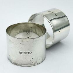 Pair George V Sterling Silver Napkin Rings London 1913 Goldsmiths And Silversmiths