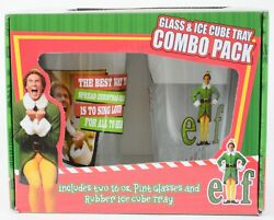Buddy Elf 2 16 Oz Pint Glass 1 Rubber Ice Cube Tray Combo Pack Christmas Holiday