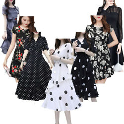 Women#x27;s Elegant Floral Party Cocktail Formal Swing Summer Casual Dress Sundress $17.57