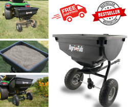 Behind Tow Hopper Broadcast Spreader 85lb Fertilizer Seed Atv Lawn Tractor Pull