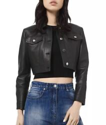 Collection Leather Jacket 4 Black Cropped Lamb Women's 1,990
