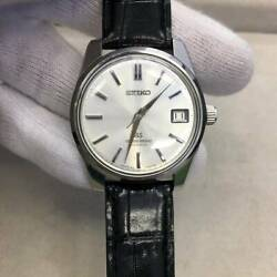 Grand Seiko 5722-9991 Winding Date Silver Gs Medallion Menand039s White Dial Black