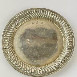 Vintage Antique Style Solid Silver Round Dishes 12.7cm Carrandrsquos Of Sheffield 1994