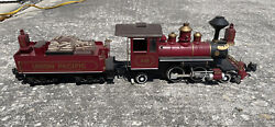 G Scale Bachmann Steam Locomotive 2-4-2 Up 19 And Tender