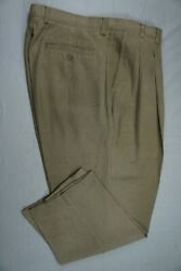 Tommy Bahama Pleated 100 Silk Casual Pants. Canvas Look Menand039s 40x28. Euc