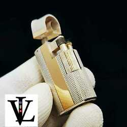 Solid Silver And Gold - Antique - 1930 / 1940and039s - Petrol Lighter - New Old Stock
