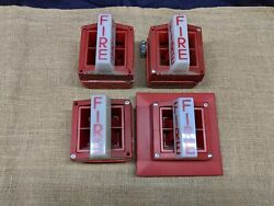 Lot Of 4 System Sensor Ss-24 Fire Alarm Horn And Strobe + 3 Boxes Used Tested