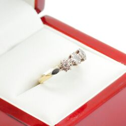 Antique Engagement Ring In 18ct And Platinum, Past, Present, Future Trilogy Rin...