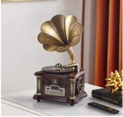 Retro Turntable Vintage Record Player Bluetooth Small Speaker Ornament From Japa