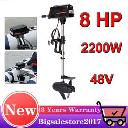 Electric 2.2kw Brushless Outboard Motor Inflatable Fishing Boat Engine Propeller