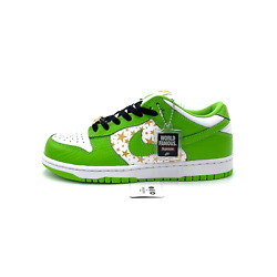 Nike Sb Dunk Low Supreme Stars Mean Green Dh3228-101 Menand039s Size 8.5-11.5