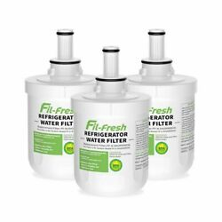 3 Pack Refrigerator Water Filter Replacement For Samsung Rf266aewp ,rf267aewp